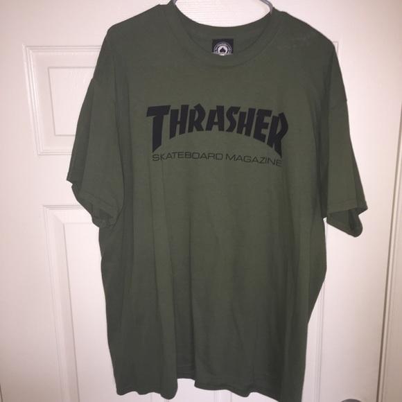 41b47a9692fc thrasher Shirts | Olive Tee | Poshmark
